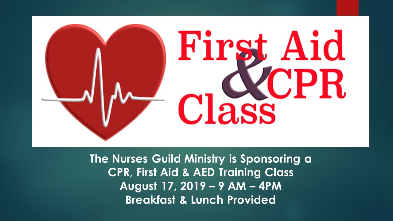 CPR,  First Aide, & AED Training